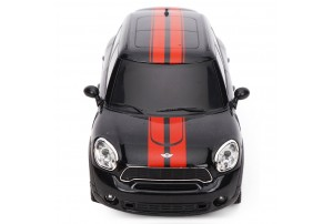 Mitashi Dash 1:24 R/C Rechargeable John Mini Cooper Works Cooper S ALL 4 Car-Black/White