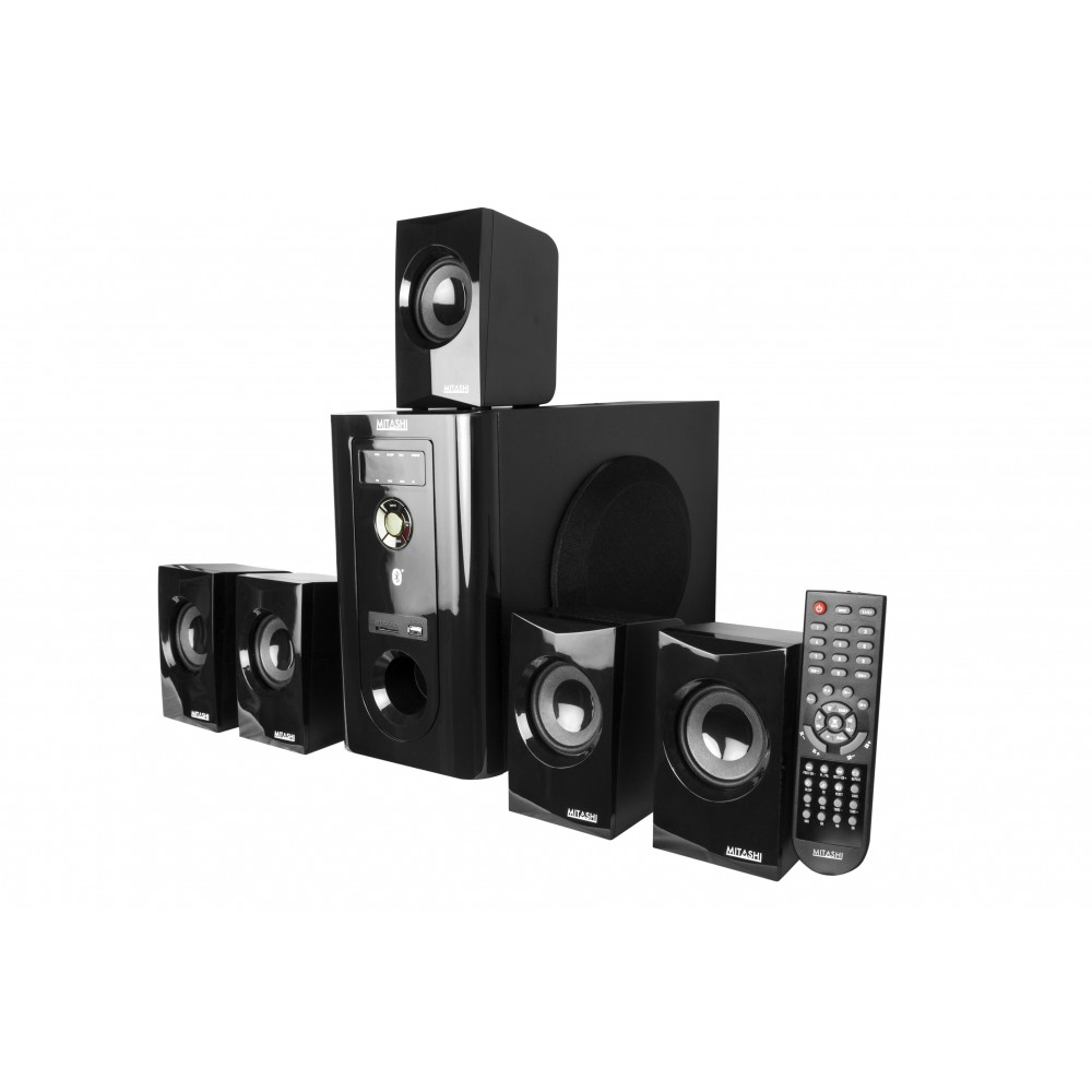 mitashi 5 1 speaker system with bluetooth ht 106bt. Black Bedroom Furniture Sets. Home Design Ideas