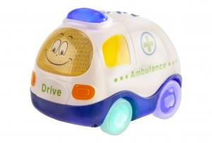 Mitashi Sky Kidz Clap & Zoom Vehicle Ambulance