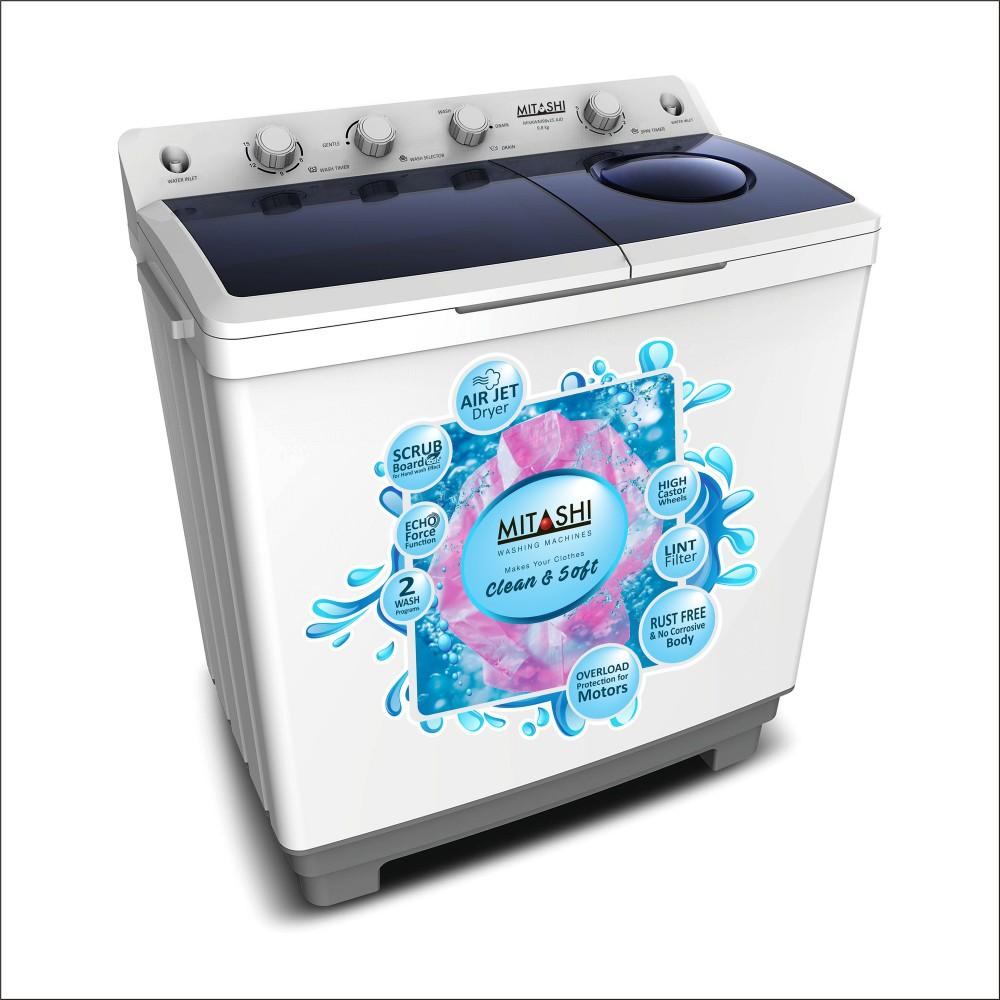 Mitashi 9 8 Kg Semi Automatic Top Loaded Washing Machine Wm98v25 Ajd With Air Jet Dryer