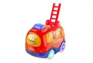 Mitashi Sky Kidz Clap & Zoom Vehicle Fire Engine