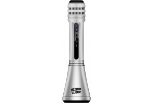 Hobby Lobby Sing Along Karaoke Mic With Inbuilt Speakers and Bluetooth (Silver) HLK1013