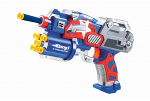 Bang Prinio Toy Gun With Soft Bullets-  Blue