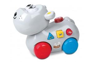 Mitashi SkyKidz Happy Go Lucky Pet Musical Toy-Hippo
