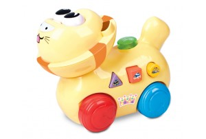 Mitashi SkyKidz Happy Go Lucky Pet Musical Toy-Lion