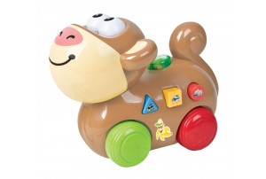 Mitashi SkyKidz Happy Go Lucky Pet Musical Toy-Monkey