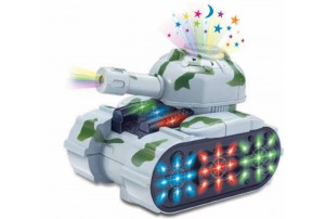 Mitashi SkyKidz Warrior Tank 1 Musical Toy-Grey